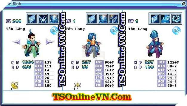 TS Online Mobile: Tổng hợp tất cả Pet Hệ Thủy chuyển sinh 1 và 2 đầy đủ nhất 53