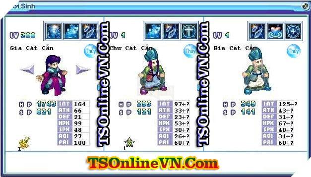 TS Online Mobile: Tổng hợp tất cả Pet Hệ Thủy chuyển sinh 1 và 2 đầy đủ nhất 48