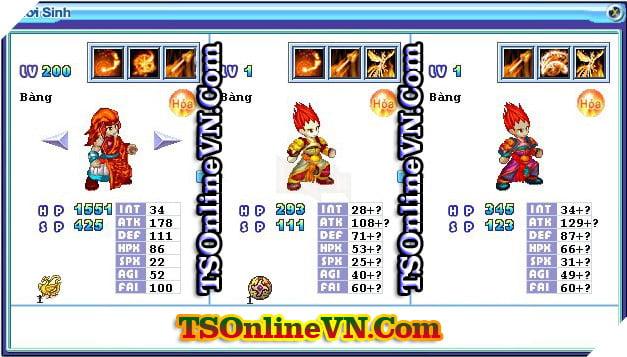 TS Online Mobile: Tổng hợp tất cả Pet Hỏa chuyển sinh 1 và 2 đầy đủ nhất 23