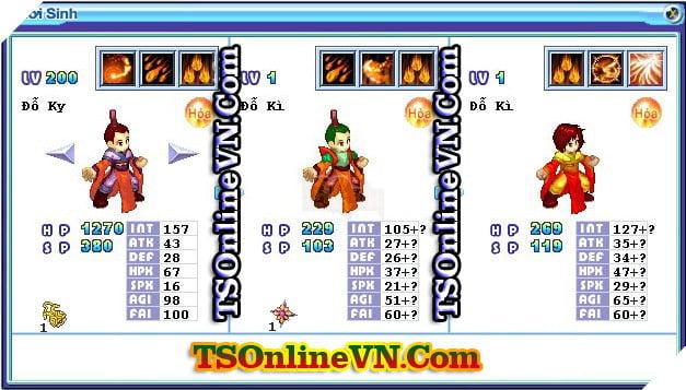 TS Online Mobile: Tổng hợp tất cả Pet Hỏa chuyển sinh 1 và 2 đầy đủ nhất 63