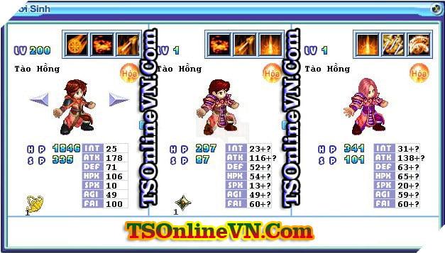 TS Online Mobile: Tổng hợp tất cả Pet Hỏa chuyển sinh 1 và 2 đầy đủ nhất 37