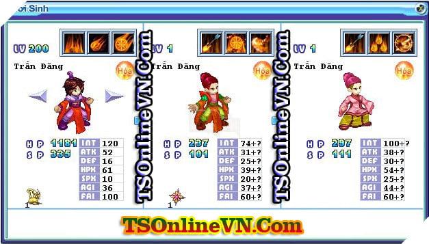 TS Online Mobile: Tổng hợp tất cả Pet Hỏa chuyển sinh 1 và 2 đầy đủ nhất 93