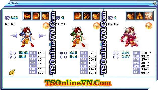 TS Online Mobile: Tổng hợp tất cả Pet Hỏa chuyển sinh 1 và 2 đầy đủ nhất 53