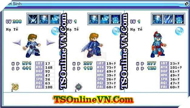 TS Online Mobile: Tổng hợp tất cả Pet Hệ Thủy chuyển sinh 1 và 2 đầy đủ nhất 74