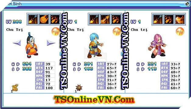 TS Online Mobile: Tổng hợp tất cả Pet Hỏa chuyển sinh 1 và 2 đầy đủ nhất 87