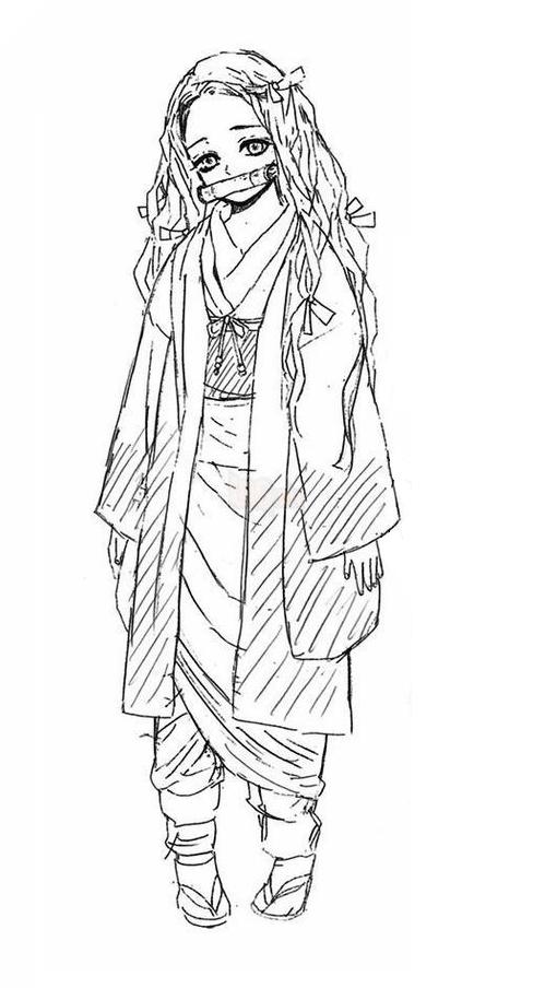 Tạo hình ban đầu của Nezuko