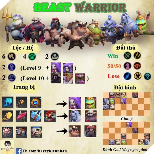Auto Chess Mobile: Hướng dẫn đội hình Beast Warrior Rank Queen dễ ghép cho Tân Thủ 2