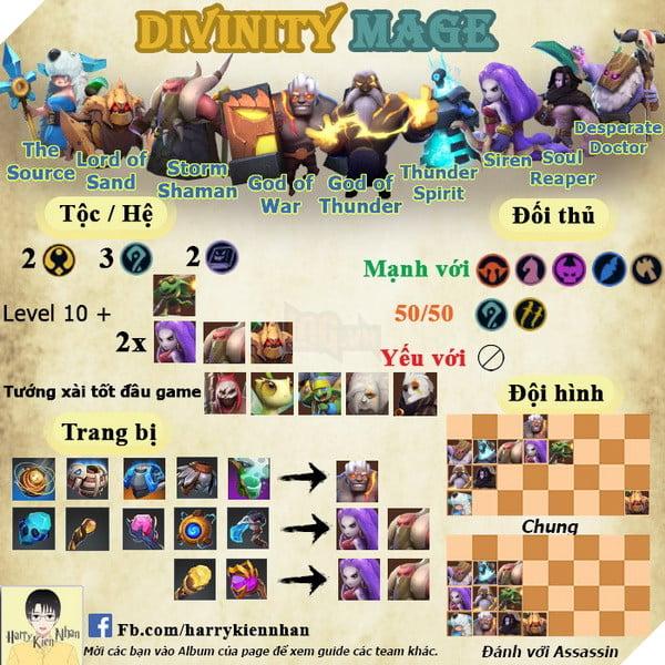 Auto Chess Mobile: Hướng dẫn đội hình Divinity Mage hủy diệt Top 1 về cuối trận 2