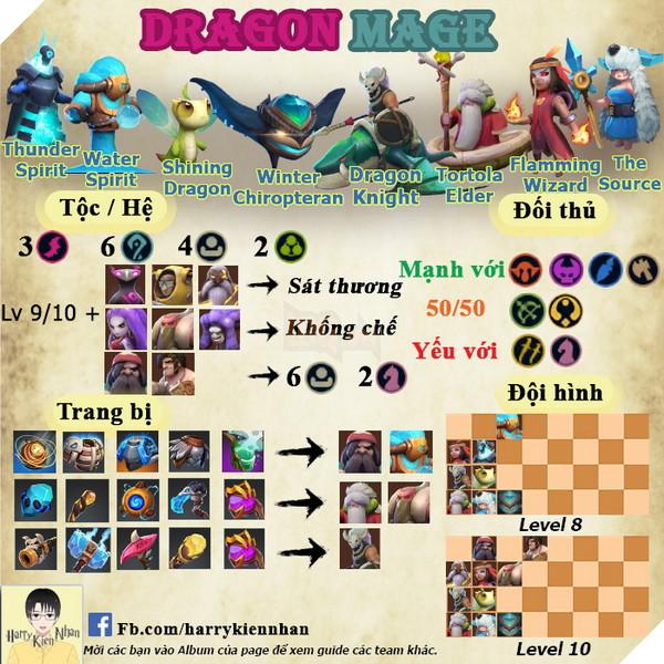 Auto Chess Mobile: Hướng dẫn đội hình Dragon Mage rank Queen áp đảo late game 2