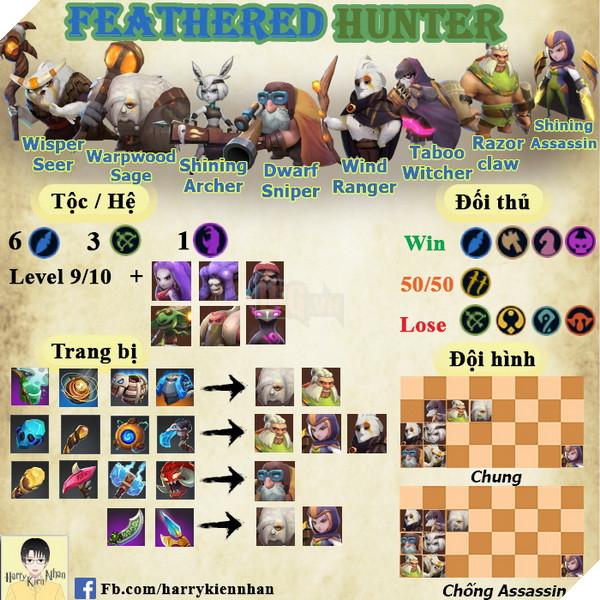 Auto Chess Mobile: Hướng dẫn đội hình Feathered Hunter rank Queen siêu dame bá đạo 2