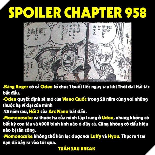 Spoiler Chính thức One Piece tập 958 - Bến cảng đã hẹn