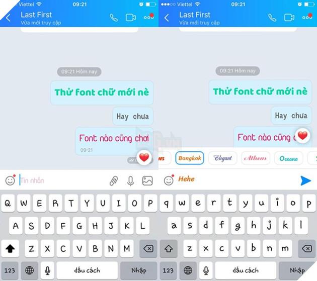 Mẹo đổi font chữ khi chat và đăng status trên Zalo 3