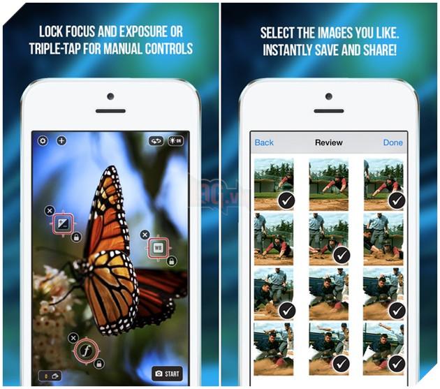 Ứng dụng Fast Camera cho phép người dùng chụp những 1500 bức ảnh trong vòng 1 phút