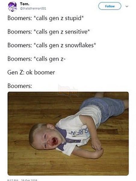 Meme Ok Boomer là gì và định nghĩa của Boomer ra sao mà ai cũng đang sử dụng 8