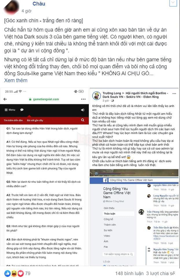 Cộng đồng game thủ cãi nhau nảy lửa vì bản dịch của Dark Souls 3 quá nhiều từ Hán Việt - Ảnh 3.
