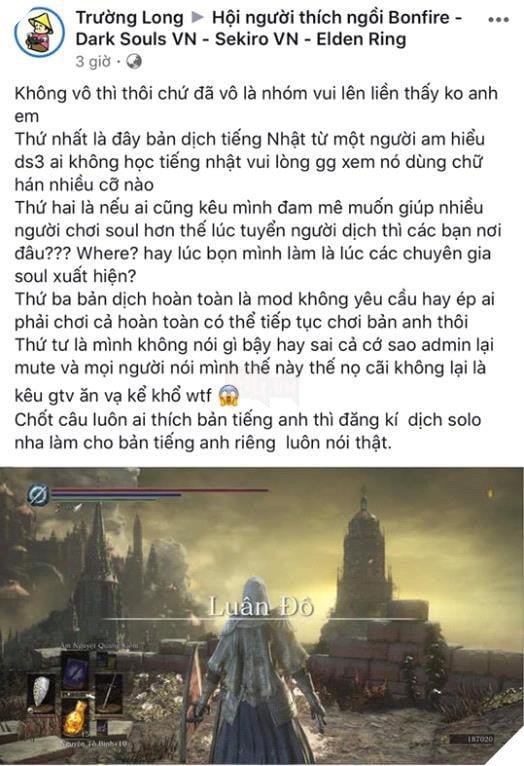 Cộng đồng game thủ cãi nhau nảy lửa vì bản dịch của Dark Souls 3 quá nhiều từ Hán Việt - Ảnh 5.