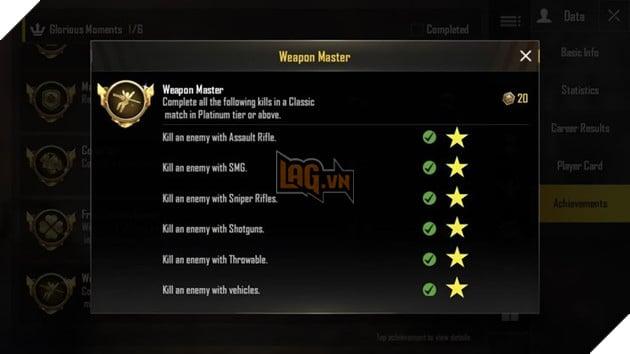 PUBG Mobile: Làm cách nào để có được danh hiệu Weapon Master 2