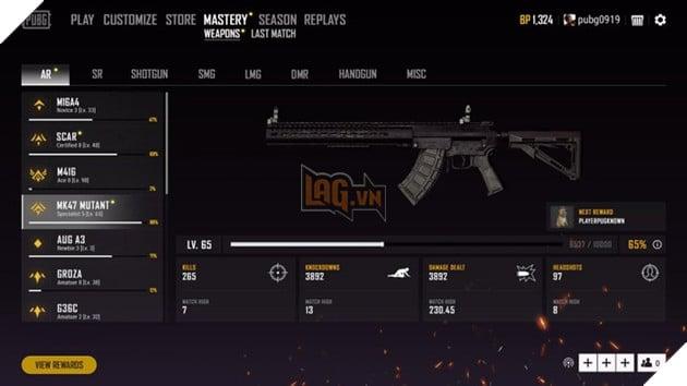 PUBG Mobile: Làm cách nào để có được danh hiệu Weapon Master 5
