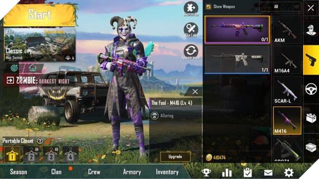 PUBG Mobile: Sự kiện nhận skin Fool M416 và nâng cấp skin cực đẹp  2