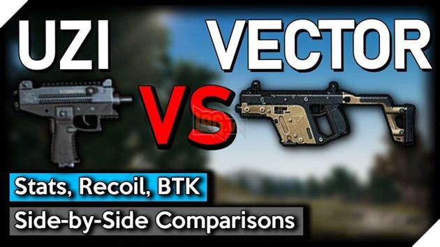 PUBG Mobile: So sánh hai khẩu súng tiểu liên Uzi vs Vector
