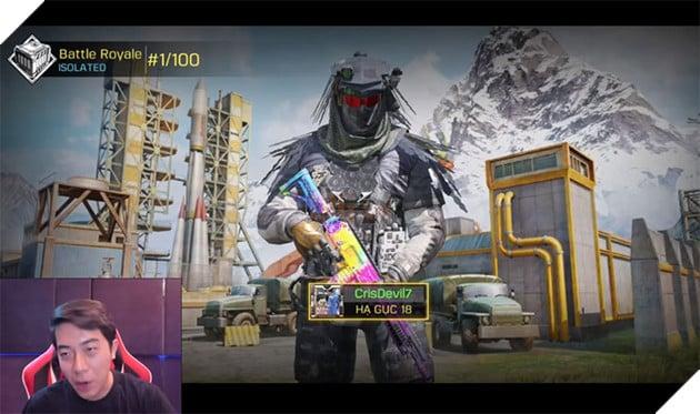 Top 1 Battle Royale với thành tích 18 kills Cris Phan thách thức các chiến binh Call of Duty: Mobile VN 4
