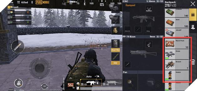 PUBG Mobile: Mẹo sử dụng các vật phẩm trong chế độ Cold Front Survival một cách phù hợp  2