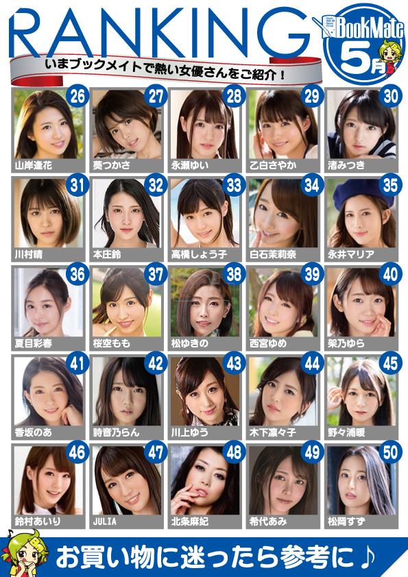 Bảng xếp hạng diễn viên JAV 18+ Nhật Bản tháng 5 - Tháng của những tân binh lật đổ tiền bối 2