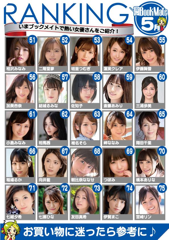 Bảng xếp hạng diễn viên JAV 18+ Nhật Bản tháng 5 - Tháng của những tân binh lật đổ tiền bối 3