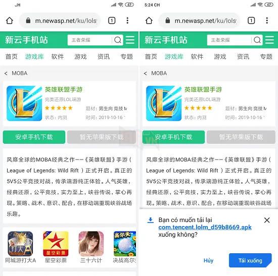 LMHT Tốc Chiến - Hướng dẫn cách tải file APK cho hệ máy Android tại máy chủ Trung Quốc 2