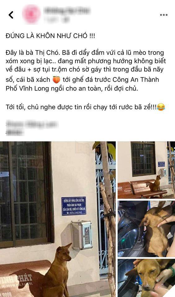 """Câu chuyện của """"Thị Chó"""" được chia sẻ trên Facebook. (Ảnh chụp màn hình Facebook)"""