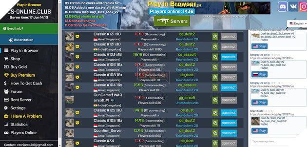 Hướng dẫn cách chơi Counter-Strike 1.6 cực dễ dàng ngay trên trình duyệt web 3