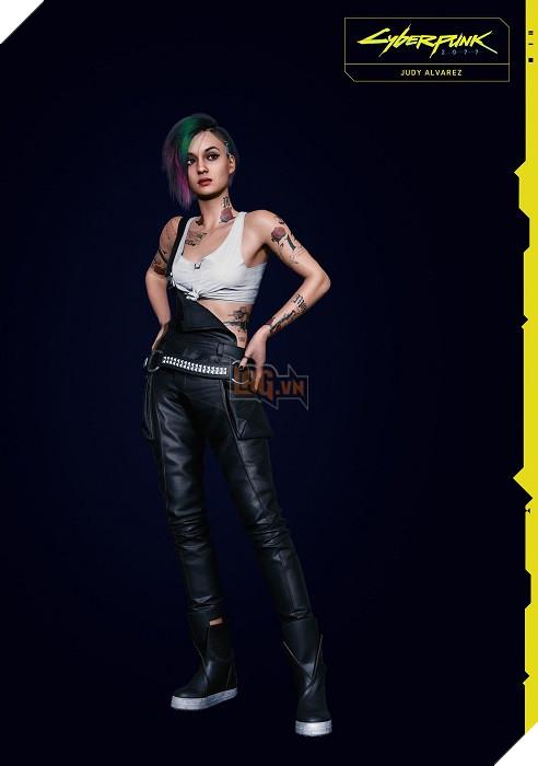 Cyberpunk 2077 tung ảnh NPC Judy Alvarez cực hút fan trên Twitter