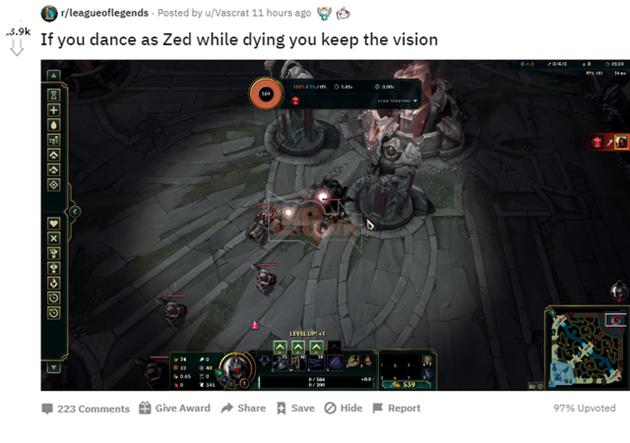 Game thủ phát hiện tính năng độc đáo mới của Zed - Khi chết thì xác bỗng nhiên hóa thành Mắt - Ảnh 3.