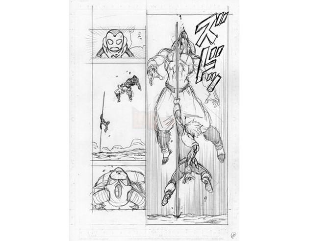 Dragon Ball Super chap 63 bị lộ 8 trang bản thảo với nội dung về cuộc so tài giữa Merus và Moro 3