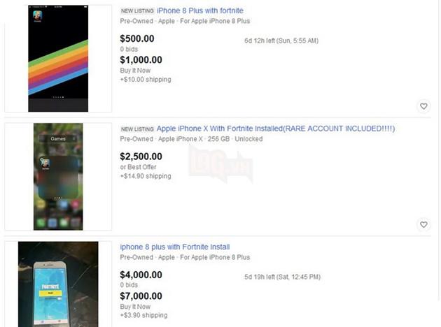 Xuất hiện hàng loạt điện thoại iPhone có sẵn Fortnite với giá hơn trăm triệu đồng trên eBay 3