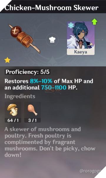 Genshin Impact: Hướng dẫn Công Thức Nấu ăn quan trọng nhất trong game dành cho tân thủ 4