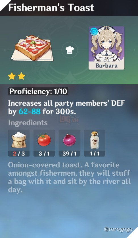 Genshin Impact: Hướng dẫn Công Thức Nấu ăn quan trọng nhất trong game dành cho tân thủ 21