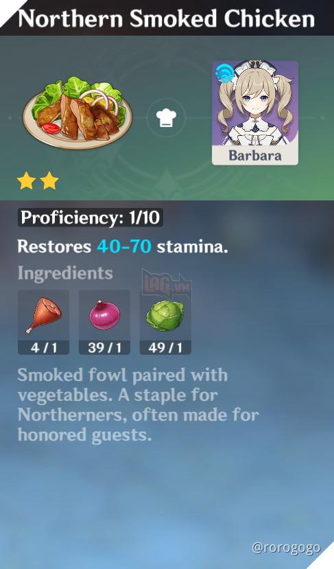 Genshin Impact: Hướng dẫn Công Thức Nấu ăn quan trọng nhất trong game dành cho tân thủ 20