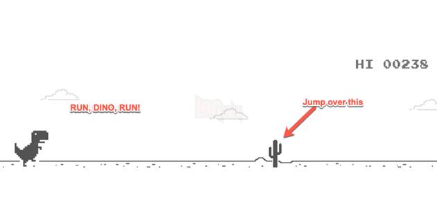 Hướng dẫn: Cách chơi T-Rex No Internet trên Google Chrome trực tuyến và ngoại tuyến 2