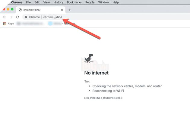 Hướng dẫn: Cách chơi T-Rex No Internet trên Google Chrome trực tuyến và ngoại tuyến 3