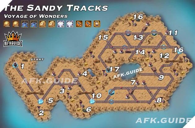sandy tracks voyage of wonders afk arena