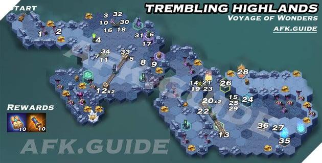 Trembling Highlands Voyage of Wonders Map AFK Arena