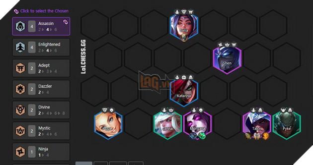 DTCL Mùa 4: Hướng dẫn đội hình Talon dame chính mạnh nhất với 6 Hệ Tộc khác nhau 2