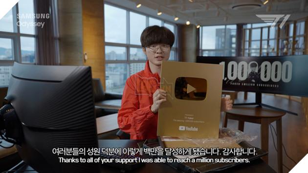 Không làm mà vẫn có ăn là đây chứ đâu: Faker chính thức trở thành chủ nhân của nút vàng Youtube - Ảnh 2.