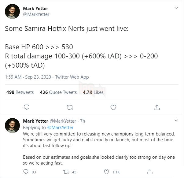 Chỉ sau 1 ngày ra mắt, Riot Games đã phải nerf khẩn cấp Samira vì quá mức mất cân bằng - Ảnh 2.