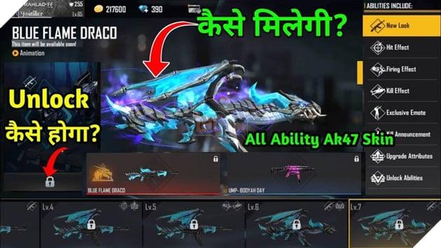 Free Fire: Mọi thứ về Blue Flame Dragon AK47 Evolution Series