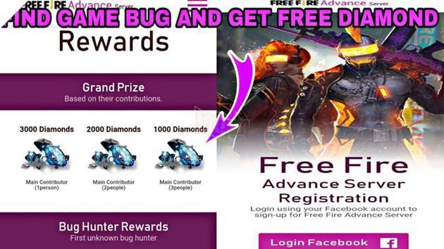 Free Fire Advance Server : Nhận MIỄN PHÍ 3000 kim cương cho thợ săn lỗi
