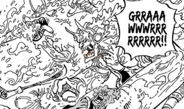 Dự đoán spoiler One Piece chap 995: Yamato sử dụng trái ác quỷ, Kaido đánh bại Cửu Hồng Bao 5