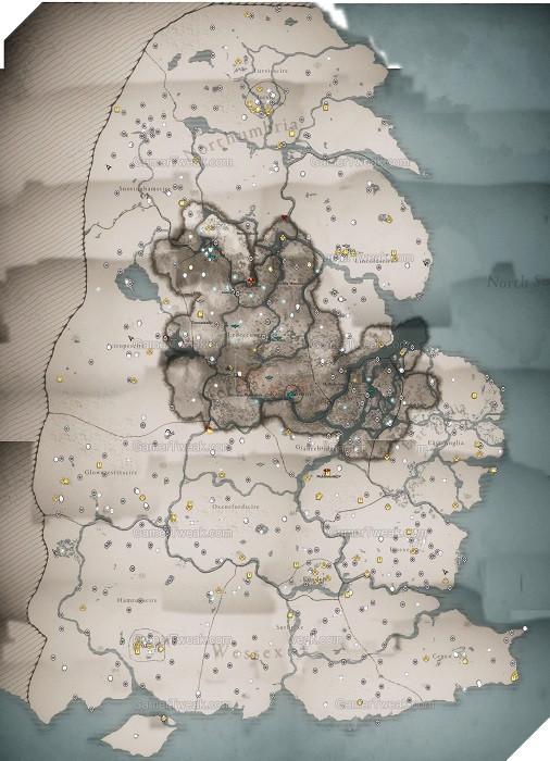Assassin's Creed Valhalla: Fan tạo bản đồ tổng hợp các địa điểm kho báu và cổ vật