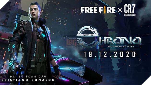 Free Fire đánh dấu màn hợp tác với siêu cầu thủ Cristiano Ronaldo bằng nhân vật Chrono